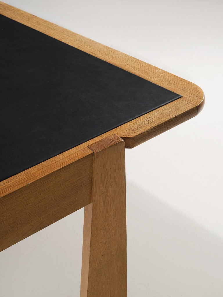 Guillerme et Chambron Desk in Oak by France, 1960s For Sale 2