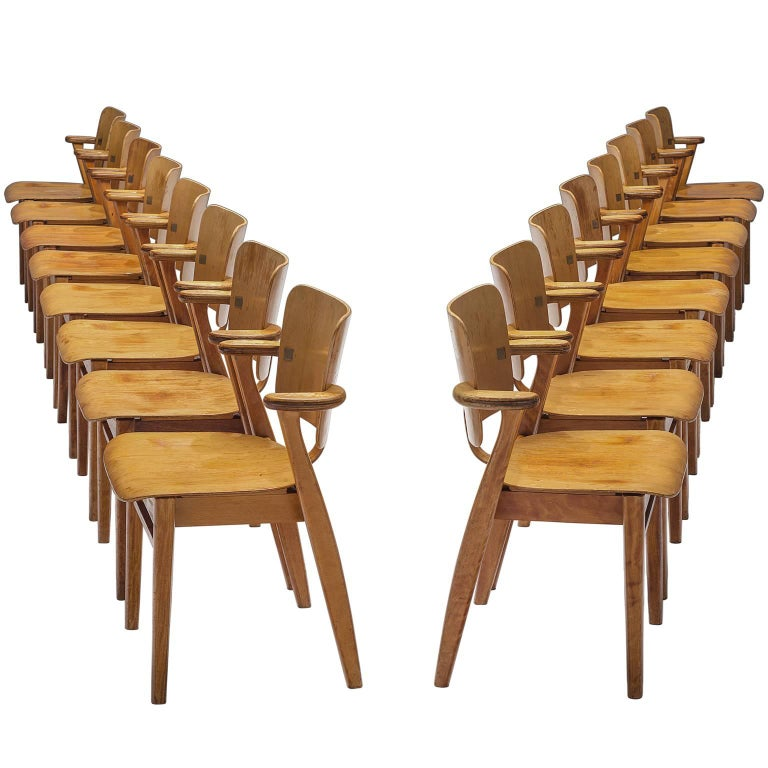 Ilmari Tapiovaara Set of 16 'Domus' Armchairs, Finland For Sale