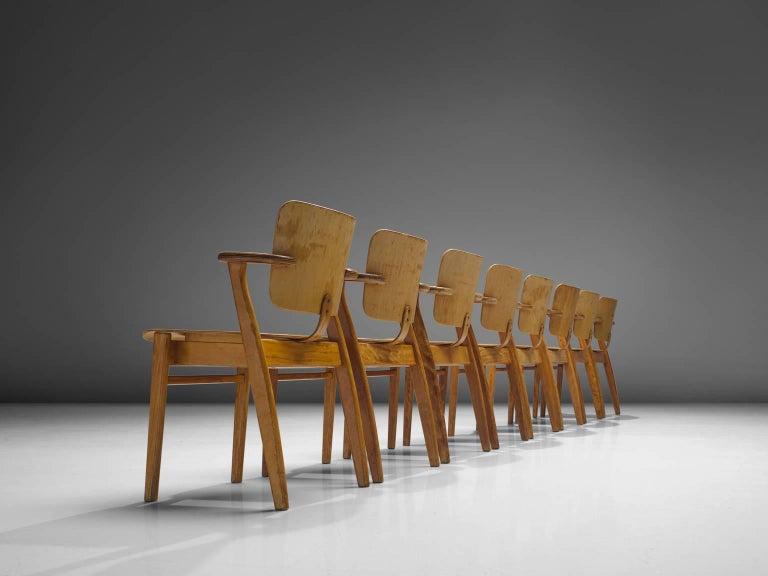 Finnish Ilmari Tapiovaara Set of 16 'Domus' Armchairs, Finland For Sale