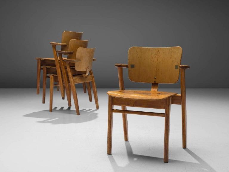 Ilmari Tapiovaara Set of 16 'Domus' Armchairs, Finland In Good Condition For Sale In Waalwijk, NL