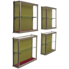 Small Custom-Made Art Deco Wall Vitrines