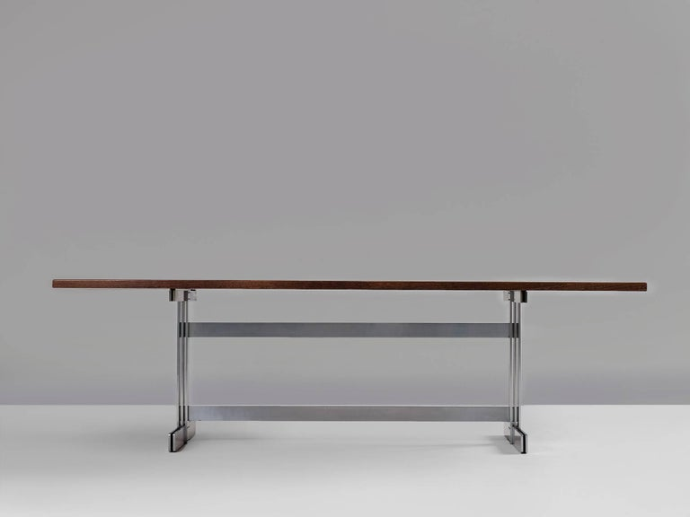 Mid-Century Modern Jules Wabbes 'Tonneau' Table in Solid Wenge For Sale