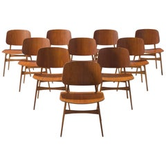 Børge Mogensen Set of Ten Soborg Chairs