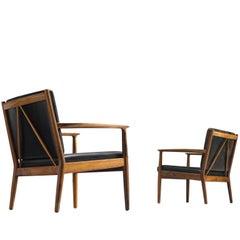 Steffen Syrach Larsen Easy Chairs by Gustav Bertelsen