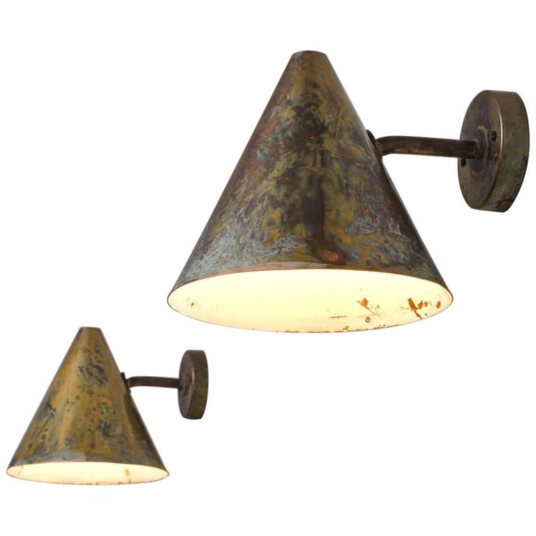 Hans-Agne Jakobsson Pair of Wall Lights in Copper