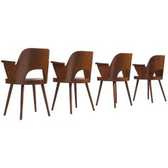 Lubomír Hofmann Set of Four Armchairs for TON