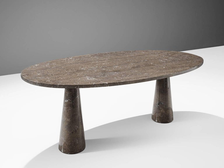 Angelo Mangiarotti, dining table, marble, 1970s. 