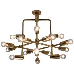 Swiss Chandelier in Brass, 1960s