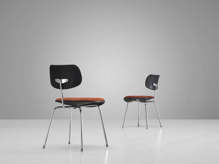 Mid-20th Century Egon Eiermann Set of Six Steel Dining Chairs For Sale