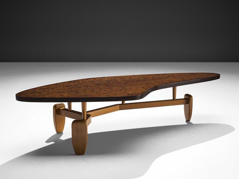 Mid-Century Modern John Keal 'Outrigger' Coffee Table For Sale