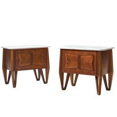 Italian Night Stands with Carrara Marble Top