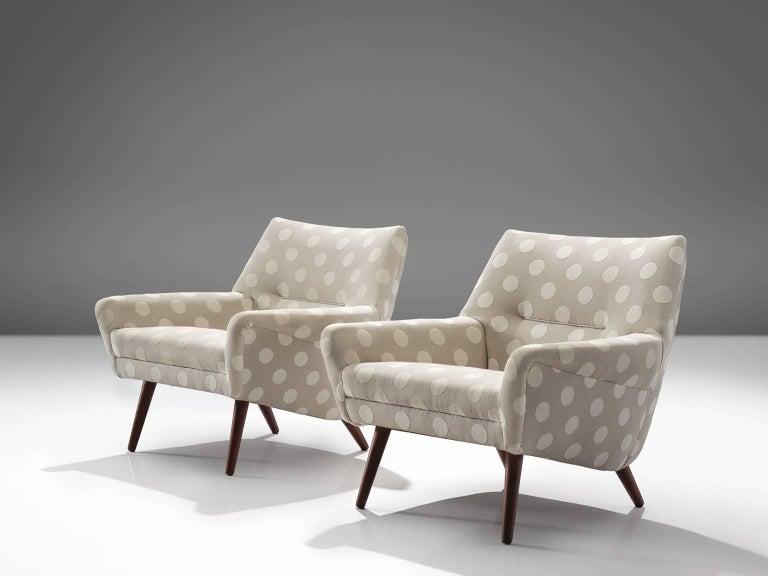 Scandinavian Modern Pair of Scandinavian Easy Chairs, circa 1960 For Sale