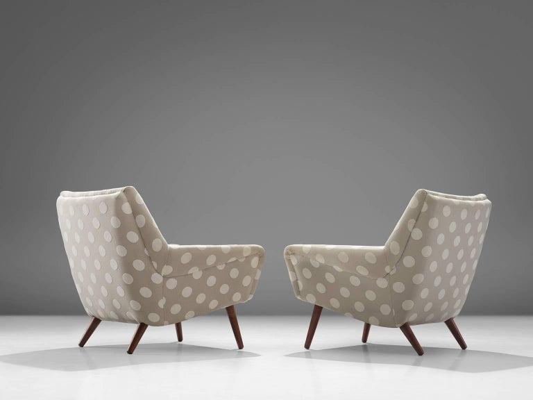 Danish Pair of Scandinavian Easy Chairs, circa 1960 For Sale