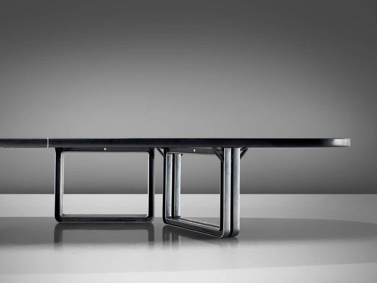Late 20th Century Tecno Design Centre Large Black Table For Sale