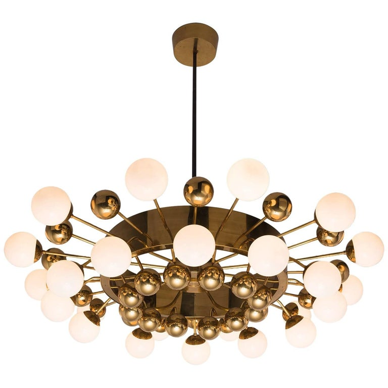 Large Brass Sputnik Chandelier