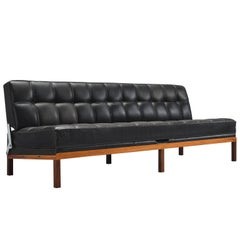 Johannes Spalt 'Constanze' Original Leather Rosewood Daybed for Wittmann