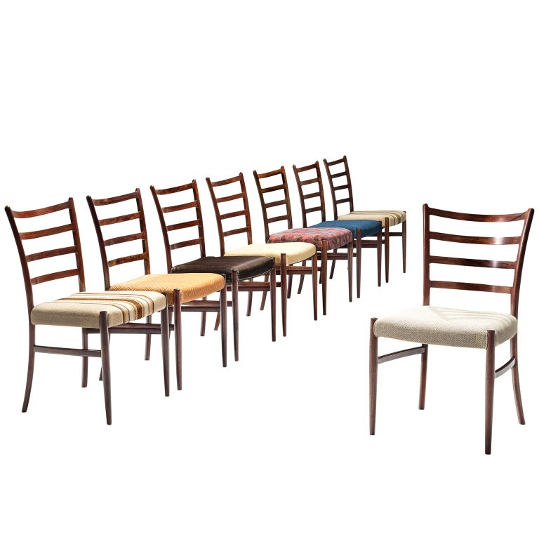 Set of Eight Danish Rosewood Dining Chairs
