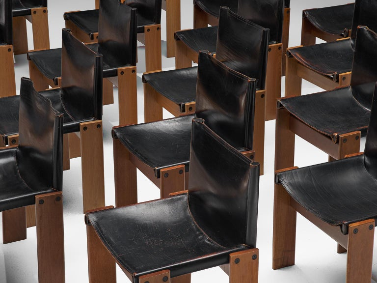 Late 20th Century Tobia & Afra Scarpa for Molteni Twenty 'Monk' Chairs For Sale