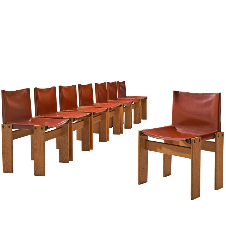 Tobia & Afra Scarpa for Molteni Eight 'Monk' Chairs