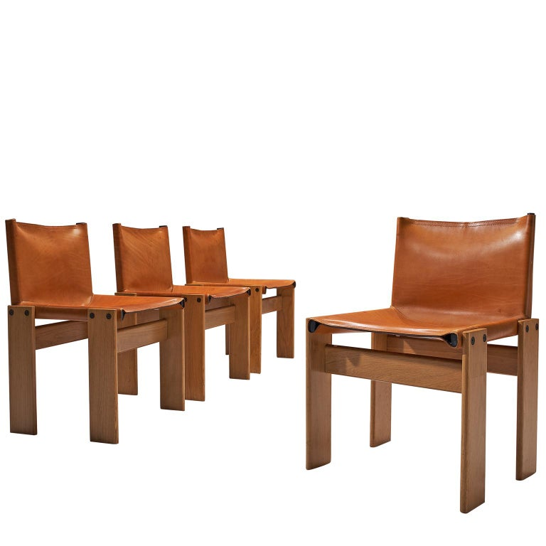 Tobia & Afra Scarpa for Molteni Four 'Monk' Chairs