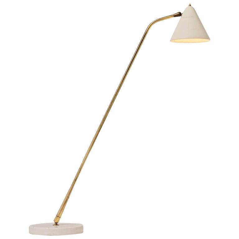Giuseppe Ostuni Rare Floor Lamp for O-Luce, Italy, 1950s
