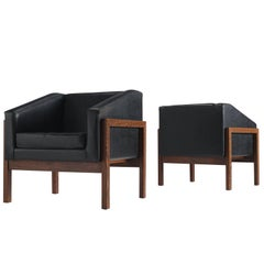 Unique Set of Two Dutch Armchairs by Wim Den Boon