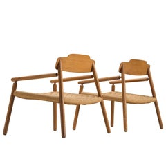 Finnish Armchairs in Wood, 1950s
