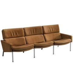 Jørgen Kastholm for Alfred Kill Cognac Sofa