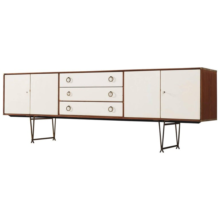 Fristho Sideboard in Teak with Brass Details