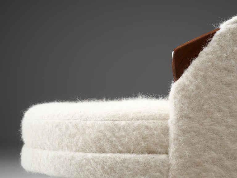 Adrian Pearsall Havana Lounge Chair and Ottoman in Pierre Frey Wool For Sale 2