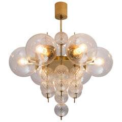 Austrian Brass and Glass Chandelier, circa 1960