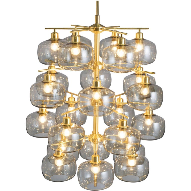 Large Swedish Chandeliers by Holger Johansson, 1952