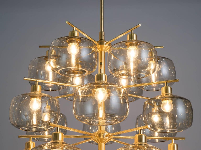 Mid-20th Century Large Swedish Chandeliers by Holger Johansson, 1952