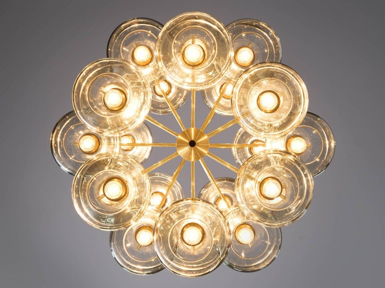 Large Swedish Chandeliers by Holger Johansson, 1952 1