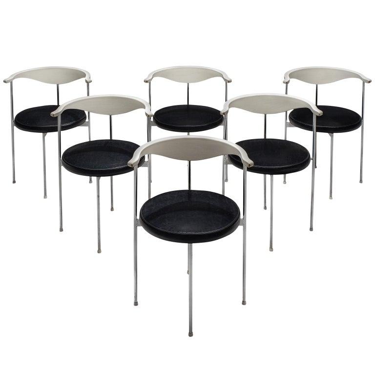 Set of Six Frederik Sieck for Fritz Hansen Chairs