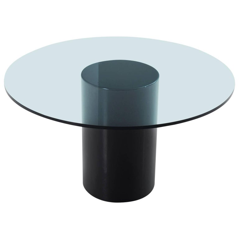 Round Italian Dining Table in Glass