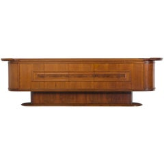 A.A. Patijn Large Sideboard in Walnut and Burl Wood