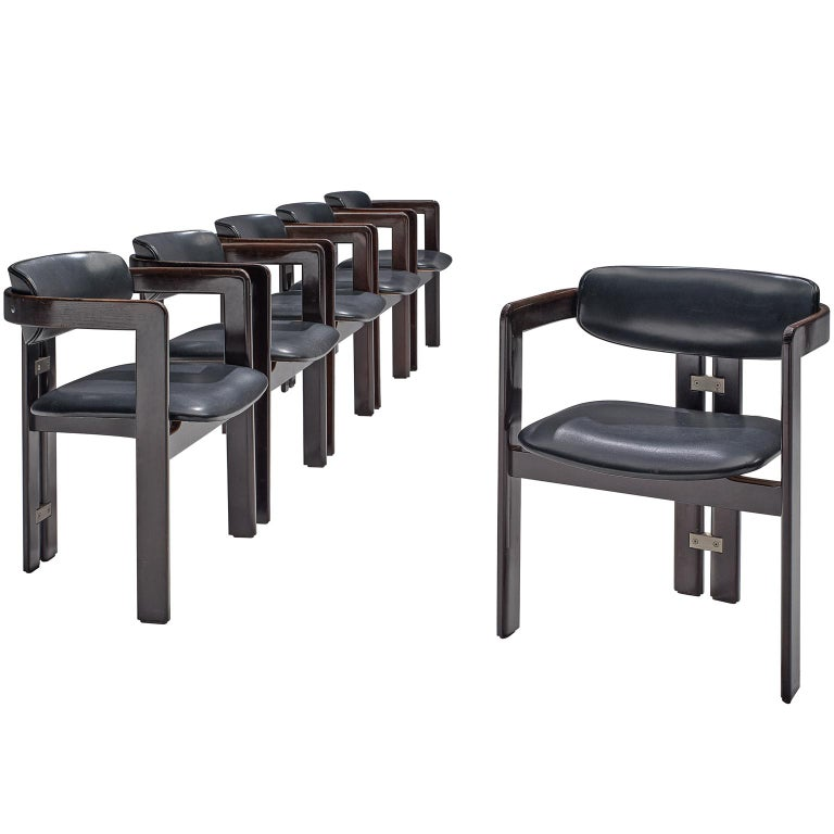 Augusto Savini Set of Six 'Pamplona' Chairs