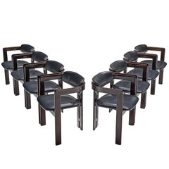 Augusto Savini Set of Eight 'Pamplona' Chairs