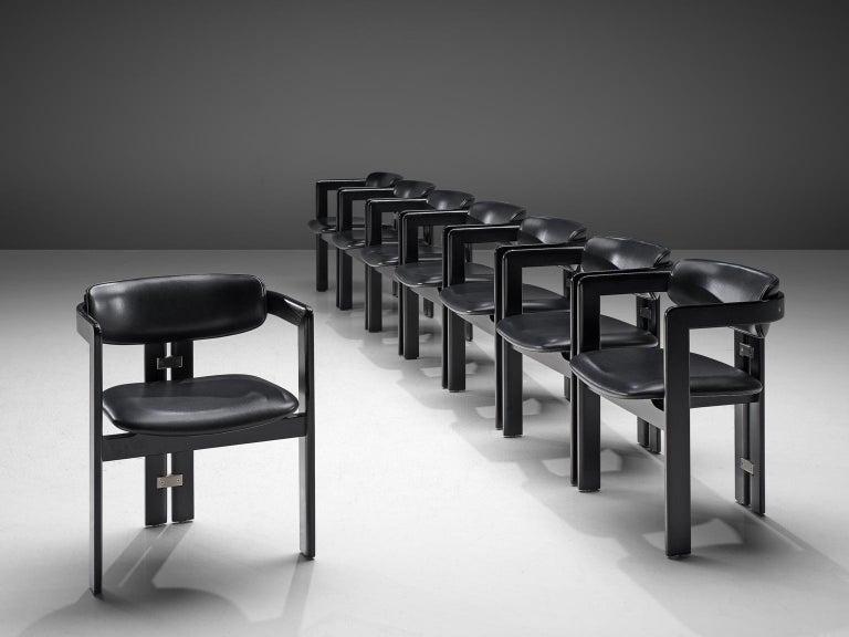 Italian Augusto Savini Set of Eight 'Pamplona' Chairs For Sale
