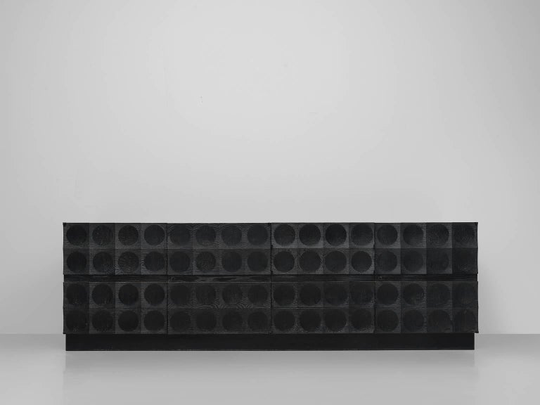 De Coene, credenza in ebonized oak, Belgium, 1970s. 