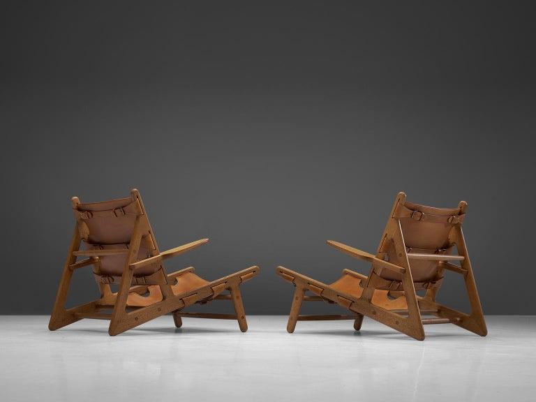 Danish Børge Mogensen Pair of Hunting Chairs For Sale