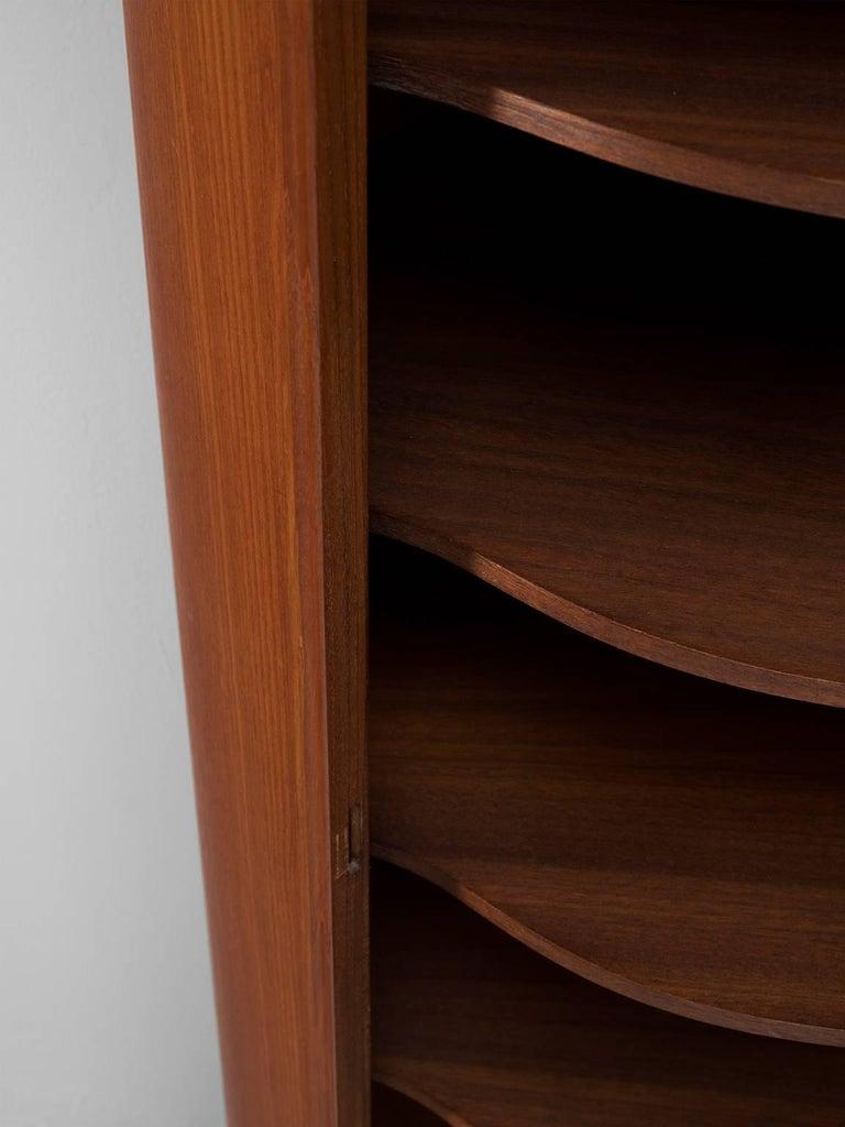 Veneer Curved Cabinet by Nexø Møbelfabrik For Sale