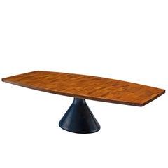 Jorge Zalszupin 'Guanabara' Pedestal Dining Table