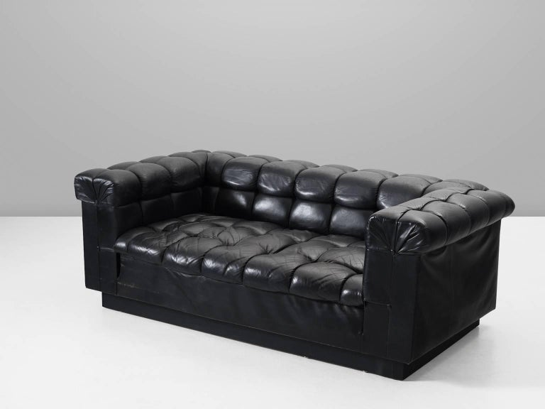 Sofa model 5407, in leather, by Edward Wormley for Dunbar, United States, 1950s.