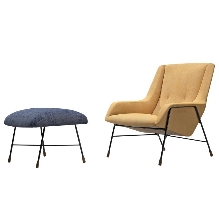 Alfred Hendrickx Rare of Lounge Chair and Ottoman