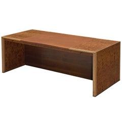 Tobia & Afra Scarpa 'Artona' Desk with Cognac Leather Top