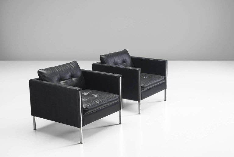 Dutch Pierre Paulin Pair of 442 Lounge Chairs for Artifort For Sale