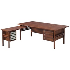 Arne Vodder Rosewood Corner Desk for Sibast