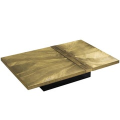 Christian Krekels Signed Brass Coffee Table